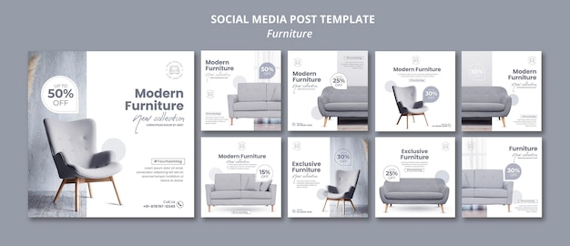 Furniture social media post Premium Psd
