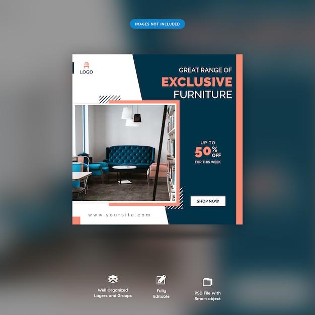 Furniture social media web banners premium psd Premium Psd