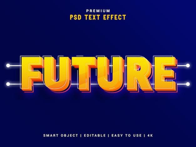 将来のテキストエフェクトメーカー Premium Psd