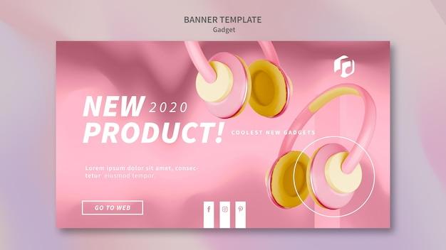 Gadget concept banner template Free Psd