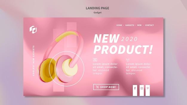 Gadget concept landing page template Free Psd