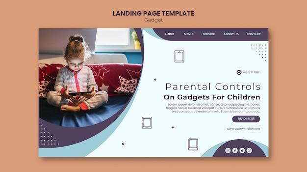子供のガジェットへの影響webテンプレート Premium Psd