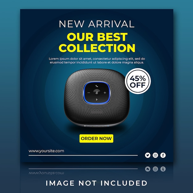 Gadget and speaker for sale new arrival instagram post template Premium Psd