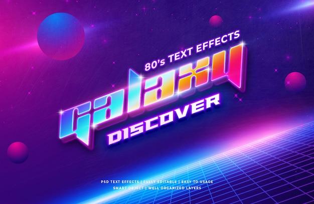 Galaxy 3d text style effect Premium Psd