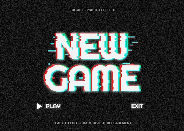 Game glitch text effect Premium Psd