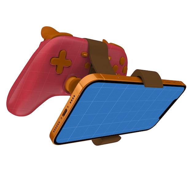ゲームパッド電話のモックアップ Premium Psd