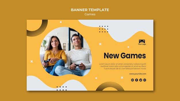 게임 배너 템플릿 무료 PSD 파일