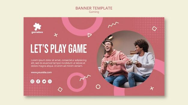 Modello di banner concetto di gioco Psd Gratuite