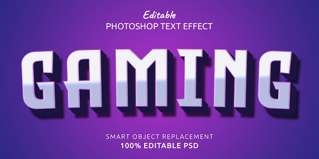Gaming editabletext style effect Premium Psd