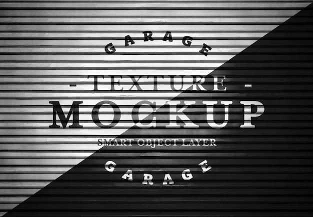 Garage door texture mockup Premium Psd