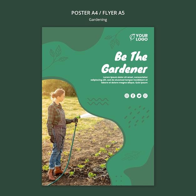 Флаер шаблон садоводства Бесплатные Psd