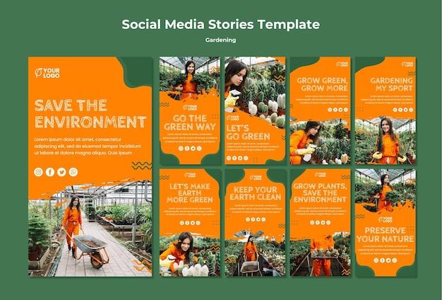Шаблон истории социальных сетей Бесплатные Psd