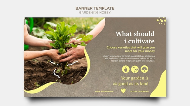 Gardening Hobby Banner Style Free Psd File