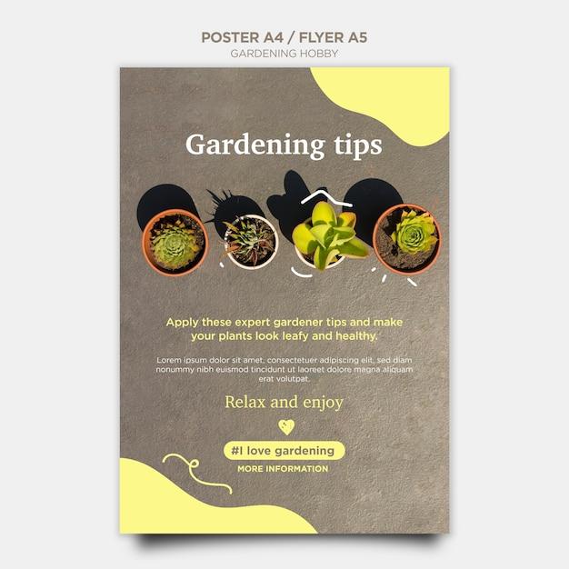 Садоводство хобби дизайн плаката Бесплатные Psd