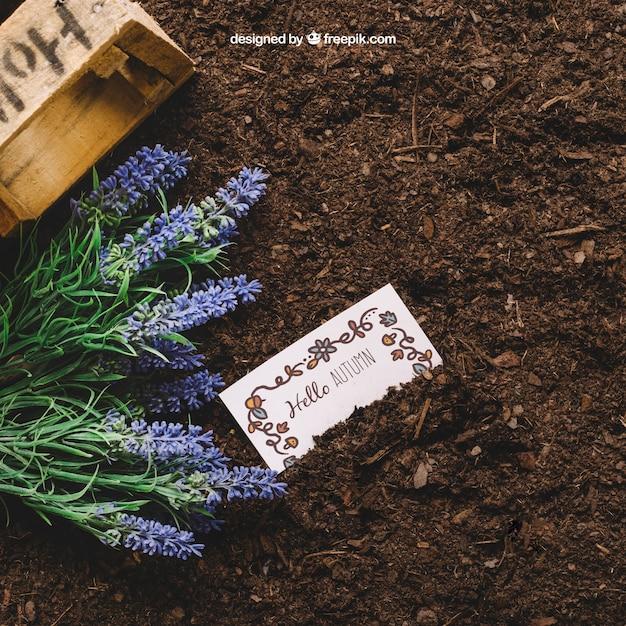 Садоводческий макет с картой Бесплатные Psd