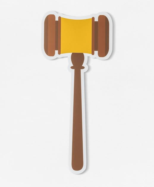 Gavel for court of law icon Premium Psd