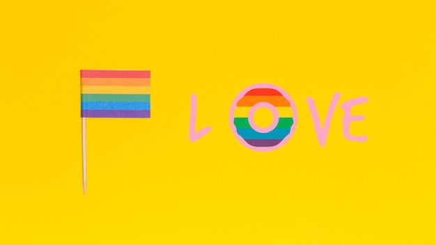 Gay pride background with elements Free Psd