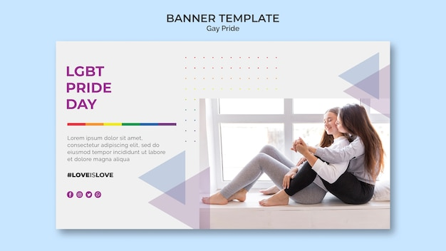 Gay pride баннер дизайн шаблона Бесплатные Psd