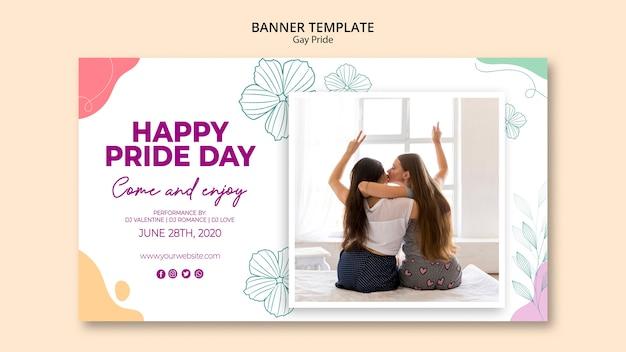 Шаблон баннера для гей-прайда Бесплатные Psd