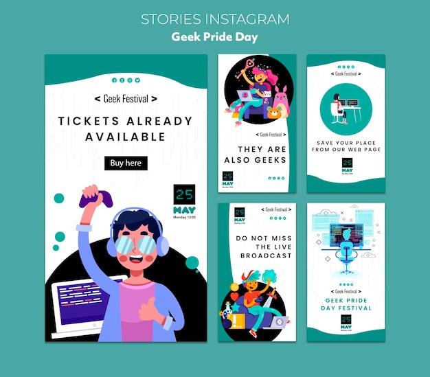 Geek pride day instagram stories Free Psd