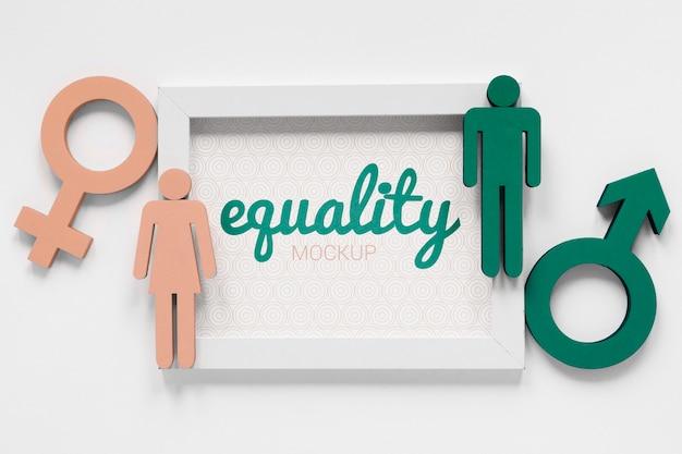 Макет концепции гендерного равенства Бесплатные Psd