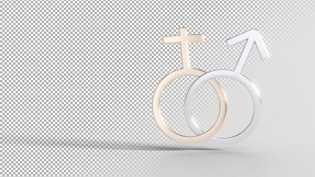 Gender identity symbols - female male Premium Psd