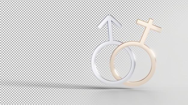 Gender identity symbols - male female Premium Psd