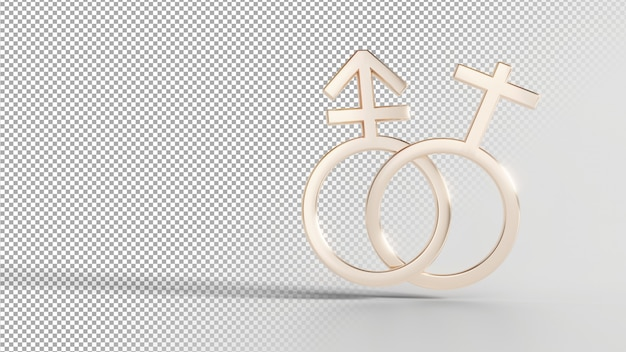Gender identity symbols - trans female Premium Psd