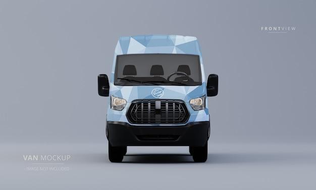 Generic utility car mock up front view van mockup Premium Psd