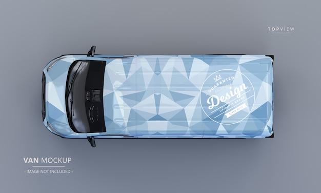 Generic utility van car mockup Premium Psd