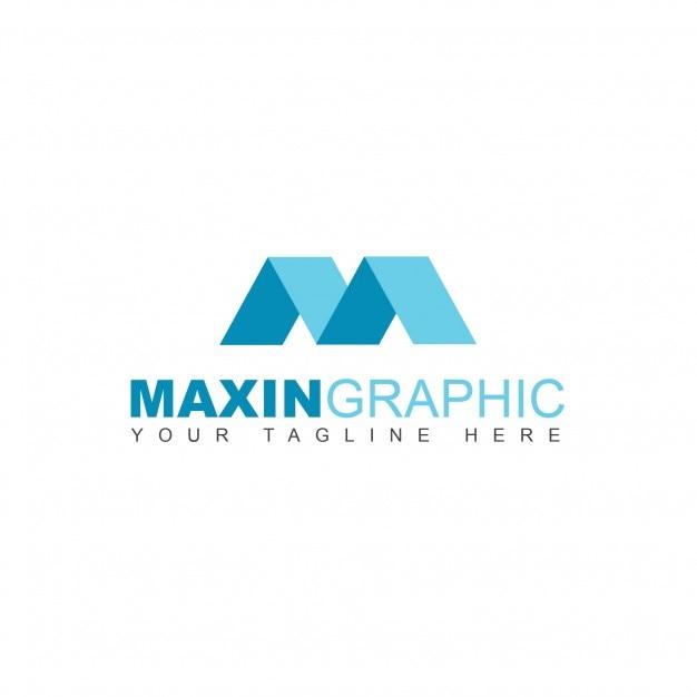 geometric m logo psd file free download