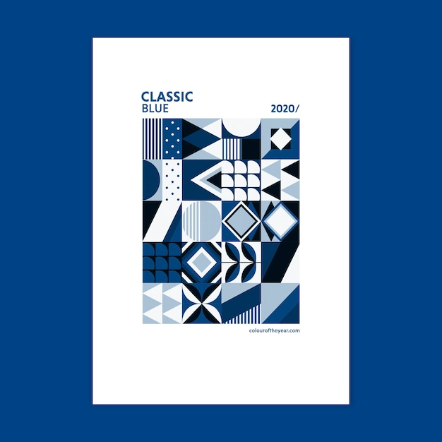 2020 년의 기하 포스터 색상 무료 PSD 파일