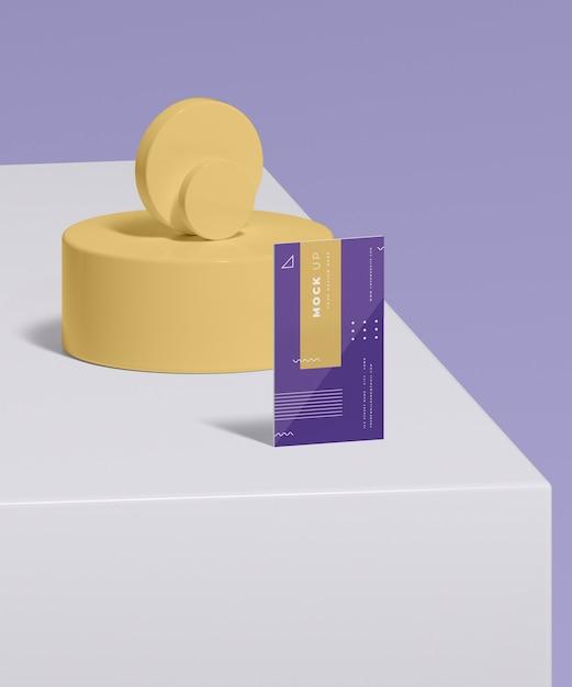 Geometric shapes concept mock-up Free Psd