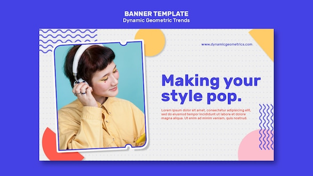 Geometric trends in graphic design banner Free Psd