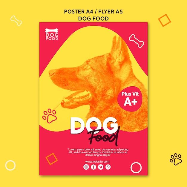 German shepherd dog food poster template Free Psd