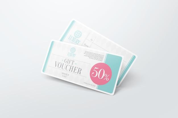 Gift voucher mockup psd file premium download gift voucher mockup premium psd yelopaper Images