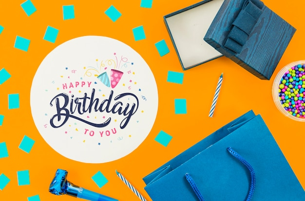 Gifts prepared for birthday party Free Psd