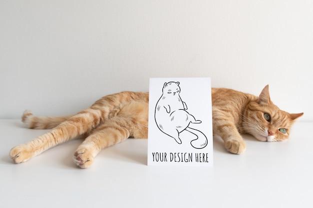 はがきと生姜猫 Premium Psd