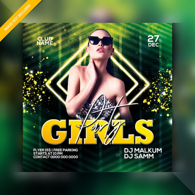 Girls night party flyer Premium Psd