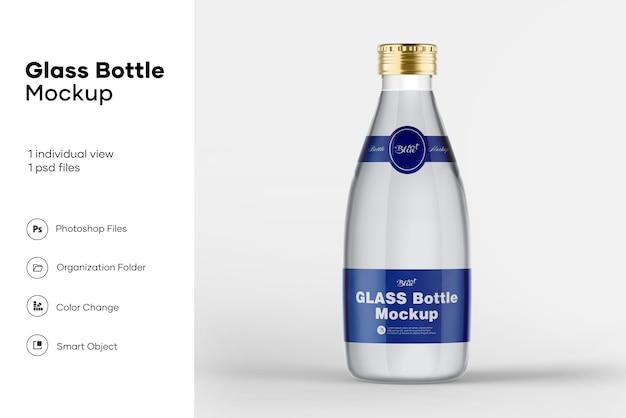 Мокап стеклянной бутылки Premium Psd