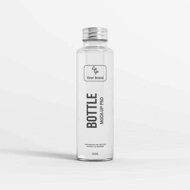 Макет стеклянной бутылки Premium Psd