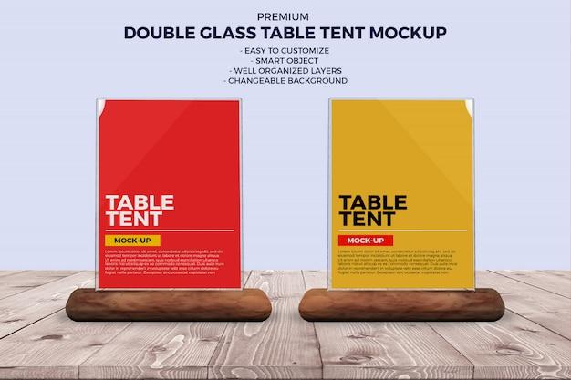 Glass food menus mockup Premium Psd