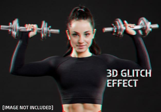 Glitch photo effect Premium Psd