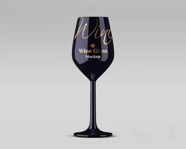 Glossy wine glass mockup Premium Psd