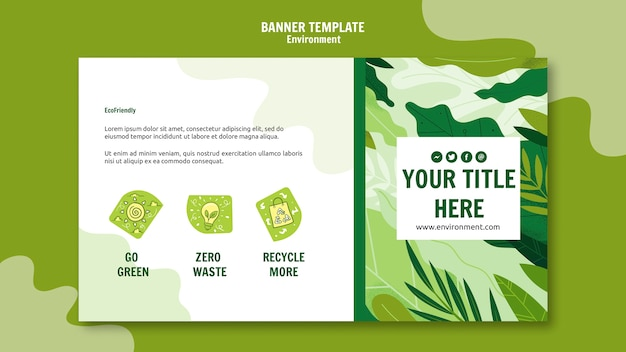 Go Green Banner Template Free Psd File