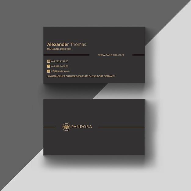 Gold business card Premium Psd