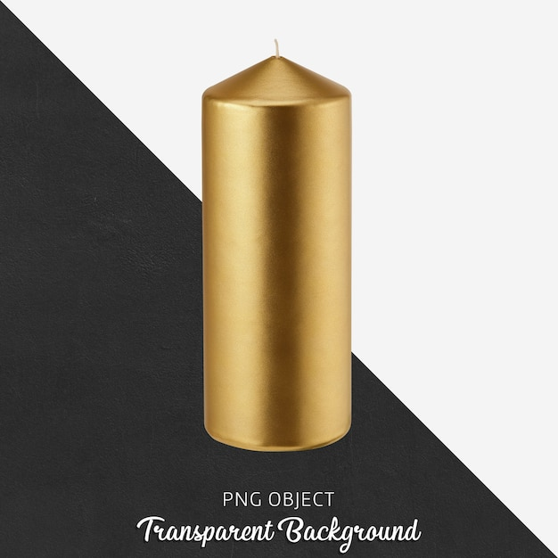 Gold candle on transparent background Premium Psd