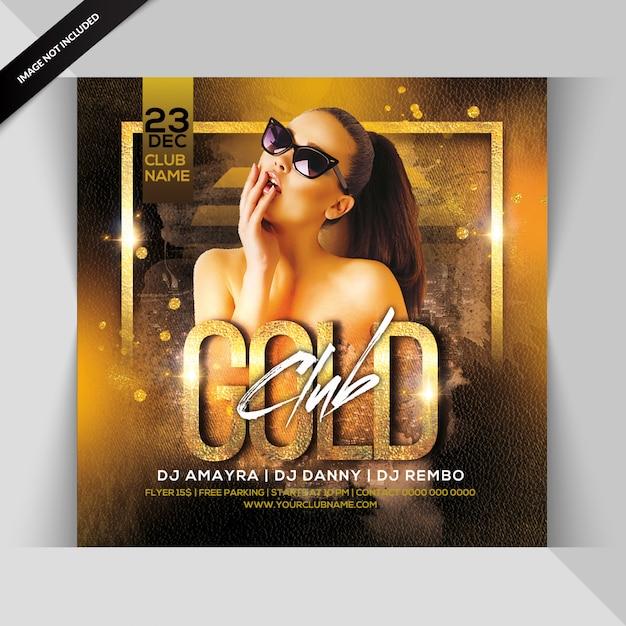 Gold club party flyer Premium Psd
