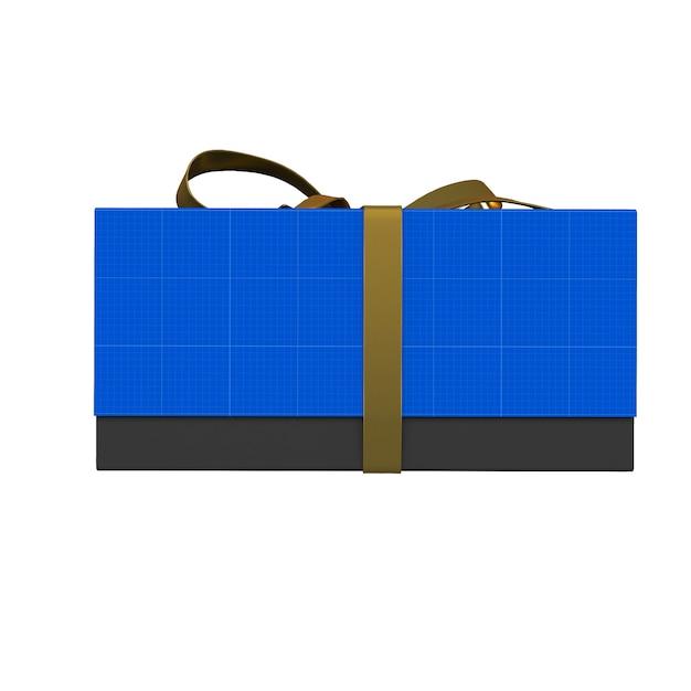 Free Opened Metallic Gift Box Mockups