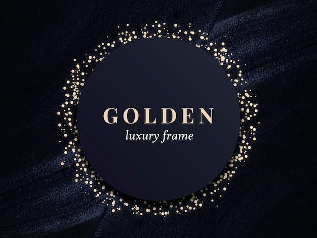Gold luxury frame Premium Psd